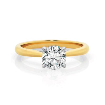 Ladies Gold Weddingband Diamond